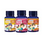 Photo of three bottles of Immunolicious gummie vitamins