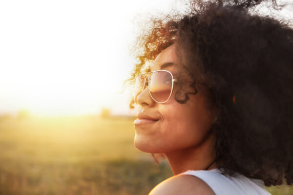 Black Woman Outdoors Healthy