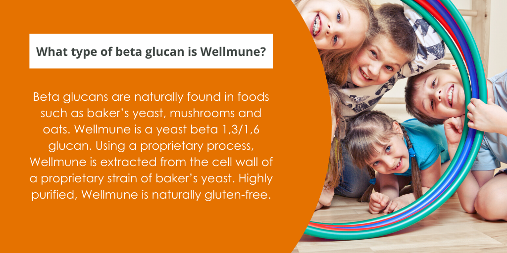 What type of beta glucan is Wellmune?