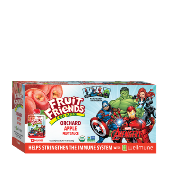 Fruit Friends Fortified Fruit Pouches with Wellmune