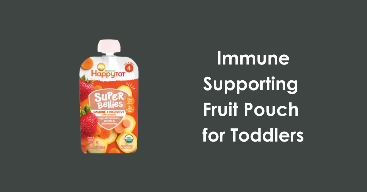 immune fruit pouch with Wellmune for toddlers