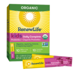 RenewLife® Probiotics + Organic Prebiotics Kids Boost Daily Formula with Wellmune